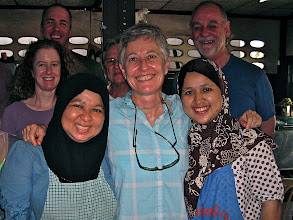 Photo: Liz and two roti sisters (Diane, Mike, Pat and Paul in back)