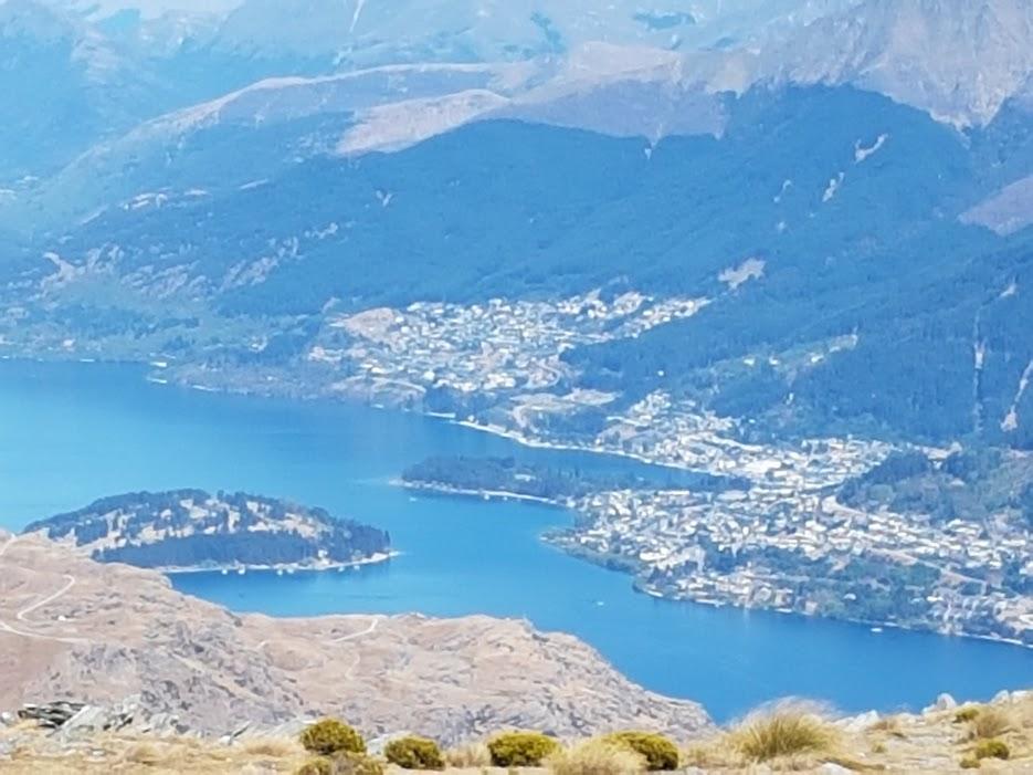 View of Queenstown and Lake Wakatipu