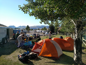 Photo: camping a mile north of north entrance to YNP