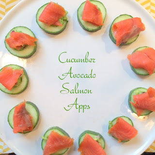 Smoked Salmon and Avocado Cucumber Apps.