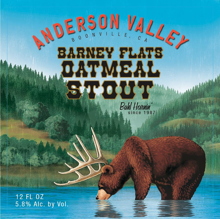 Logo of Anderson Valley Barney Flats Oatmeal Stout