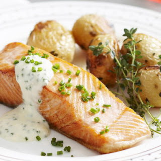Crispy Skin Salmon with Roasted Baby Potatoes