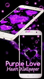 Purple Love Heart Live hd Wallpaper - náhled