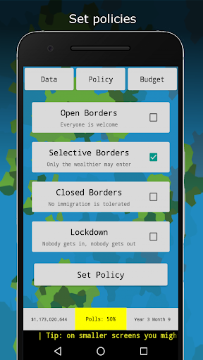 Code Triche RandomNation - Politics Game APK MOD screenshots 2