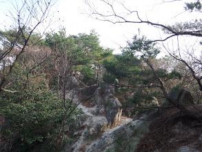 花崗岩の脆い尾根