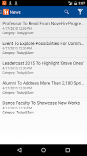 SHSU Mobile App- screenshot thumbnail