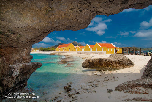 bonaire-houses.jpg - Colorful houses line an inlet in Bonaire.