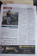 Photo: Entrevistita y fotito en la contraportada de La Opinión a propósito del 27MDS. Mola.