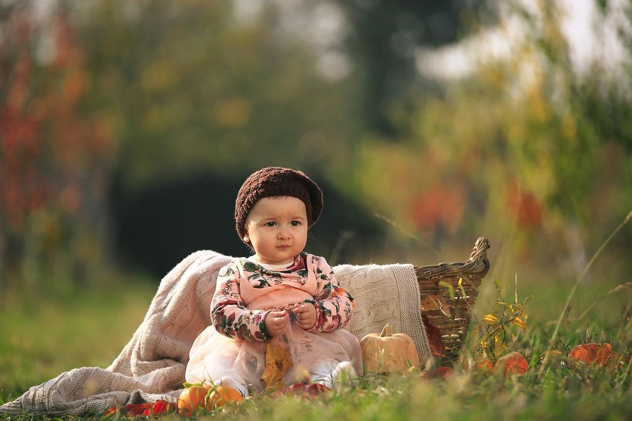 Baby Girl in a garden