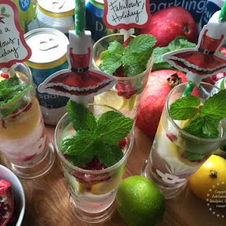 Minty Lemon Lime Pomegranate Spritzer.