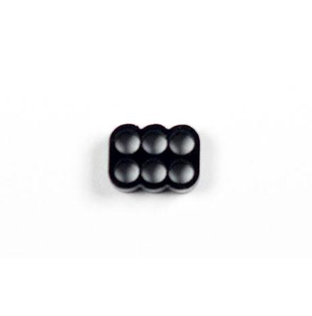 Kabelkam for 6 pins kabel, 2x3 Ø4mm hull, sort