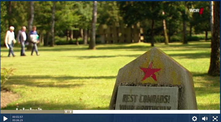 Bild aus Video: Gedenkstein mit rotem Stern.