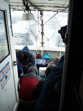 Photo: テント下に避難です。・・・はやく止んでくれー!