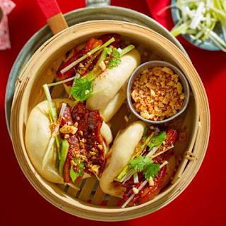 Sticky Pork Belly Bao Buns