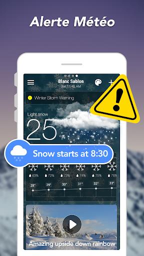 Prévisions météo & Widgets & Radar screenshot 8