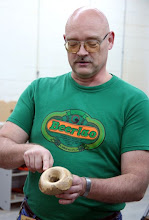 Photo: Don also made a spalted maple mushroom in the unique form of a small vessel with a cascade rim.