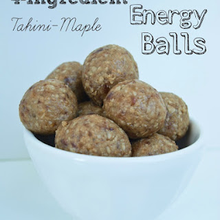 4-ingredient Tahini-Maple Energy Bites.