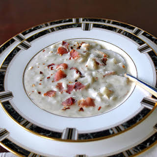 New England Clam Chowder with Bacon.