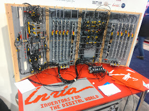Photo: Pneumatic Lego turing machine in inria's booth.