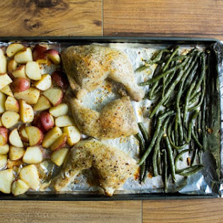 One Pan Roasted Chicken Dinner