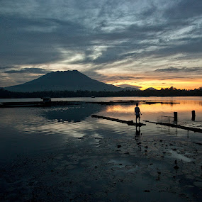 Dawn of Hope by Mj Loyola Ganitano - Landscapes Waterscapes