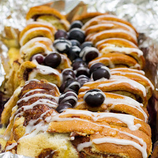 Campfire Cinnamon Blueberry Bread
