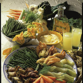 Colorful Vegetable Platter with Aioli