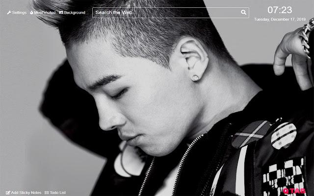Taeyang Big Bang Wallpaper for New Tab