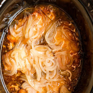 Slow Cooker Pork Chops and Onions.