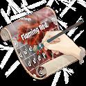 Rojo llameante Keyboard Piel icon