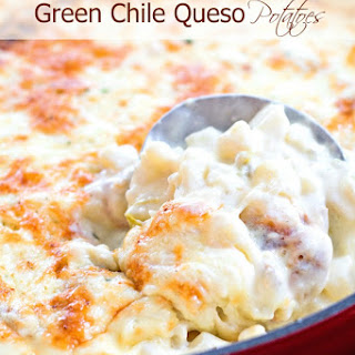 Green Chili Queso Potatoes