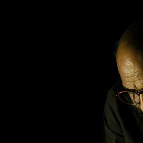 Portrait of an artist  by Devesh Kalla - People Portraits of Men ( dark, men, artist, black, portrait, man )