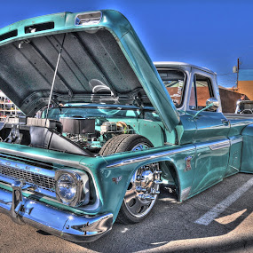 Chevy lowrider truck by Stephen Botel - Transportation Automobiles ( hdr, truck, arizona, chevy lowrider, car show )