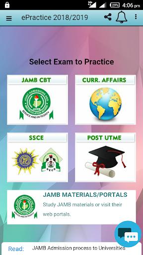 JAMB CBT PRACTICE 2018 1.1.2 screenshots 1