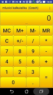 mluvit kalkulačka - náhled