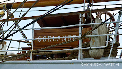 Photo: The name of the boat I was photographing, Sorlandet.