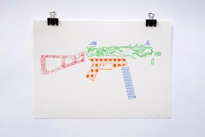 gary colin, plastic gun, série Risographies