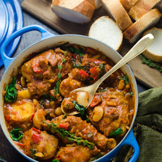 Saucy Spanish Chicken, Chorizo, and Potato Pot
