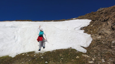 Photo: Cléa, un peu au-dessus du Col de Menté
