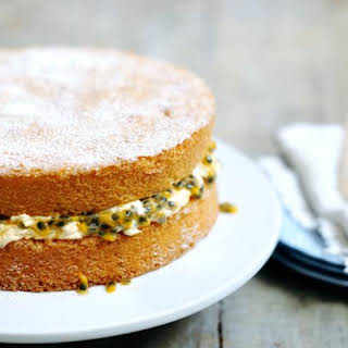 A Classic Sponge Cake (with Passion Fruit Filling).