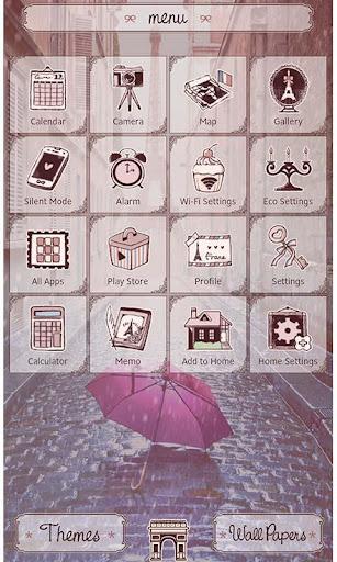 Theme Rain at the Eiffel Tower 1.0.1 Windows u7528 2