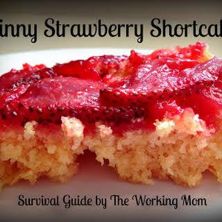 Skinny Strawberry Short Upside Down Cake.