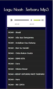 Lagu Noah :Terbaru Mp3 - Android Apps on Google Play