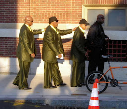 Photo: The Blind Boys of Alabama (http://www.blindboys.com/) entering Symphony Hall for the Gospel Nightconcert with the Boston Pops (http://www.bso.org/Performance/Detail/70823/) Yes, we attended the concert.