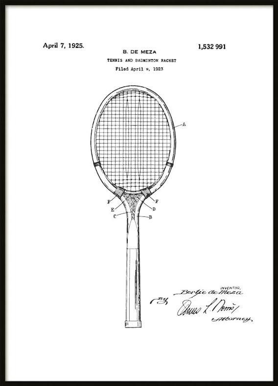 Patent Poster Tennis