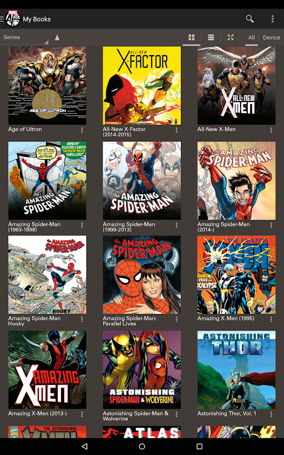 Marvel Comics: captura de pantalla