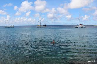 Photo: Lucas LU1FAM, en el mar caribe