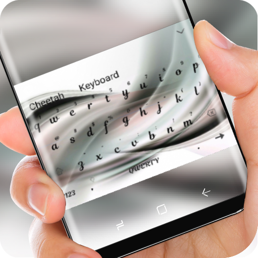 Silver Wave Wallpaper Keyboard for Huawei