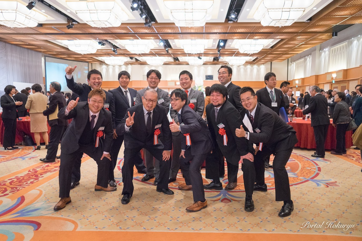 コープさっぽろ農業賞・交流賞部門・札幌市長賞を受賞したチームノースドラゴン(北竜町)の皆さん