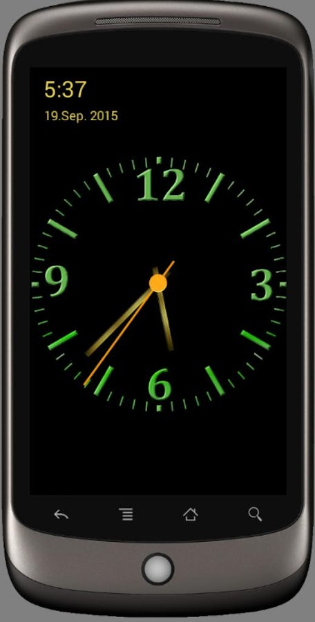 Nice Night Clock With Alarm And Light Android Apps On